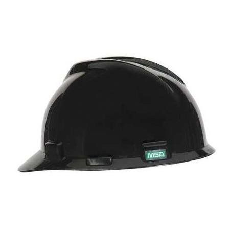 MSA V-Gard® Black Class E Polyethylene Hard Cap With Fas-Trac® Suspension has self-adjusting crown straps which offers comfortable protection. Slots are designed to work with MSA accessories which assure compliance with both the helmet, accessory and polyethylene shell provides tremendous impact ...