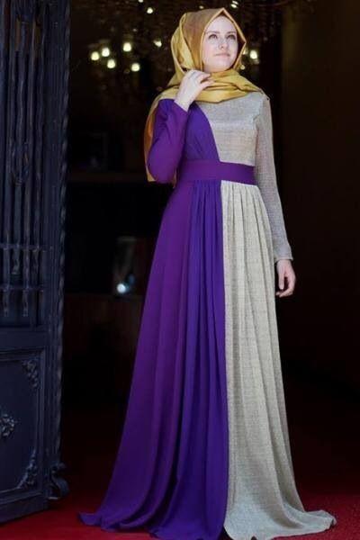 Merve Gündüz mor zırh abiye elbise