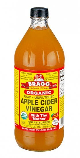 Bragg Apple Cider Vinegar - my toner. Best product for restoring the ph of your skin.