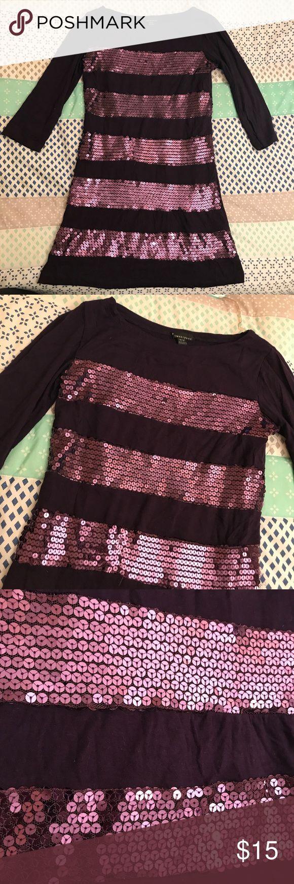 Purple sequin dress Striped sequin dress. Deep purple. Forever 21 Dresses Midi