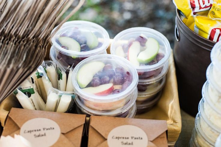 Love the individual fruit cups!! Birthday Party in the Park! - All Things Heart and Home