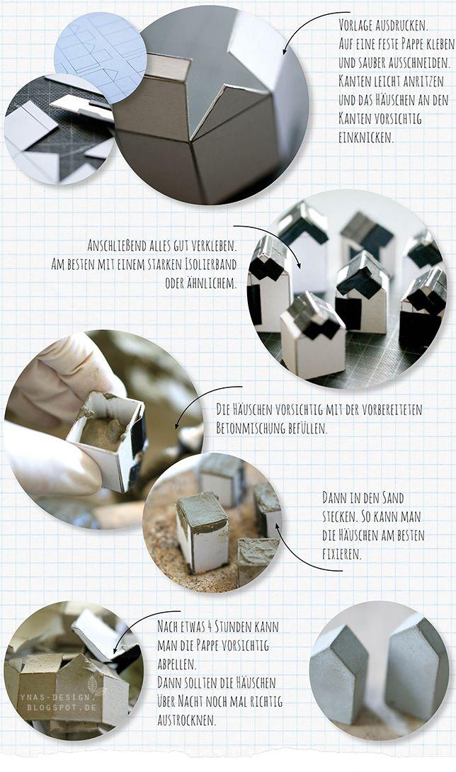 Ynas Design Blog, DIY-Häuser aus Beton