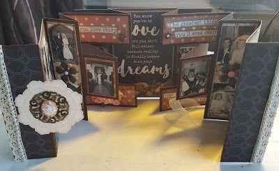 Artfull Crafts: Diane - Kaisercraft 'Always and Forever' Foldout card mini album.