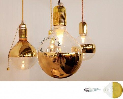 Klosz dekoracyjny złoty-  połowa zwierciadła Zangra 015  Ø125mm