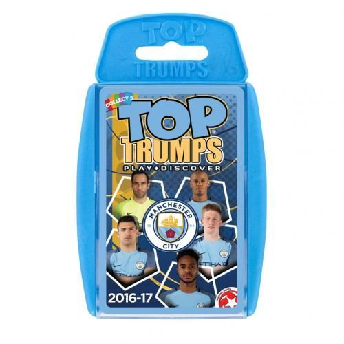 Manchester City Edition of the classic card game Top Trumps featuring member of the current Manchester City team. FREE DELIVERY ON ALL OF OUR GIFTS