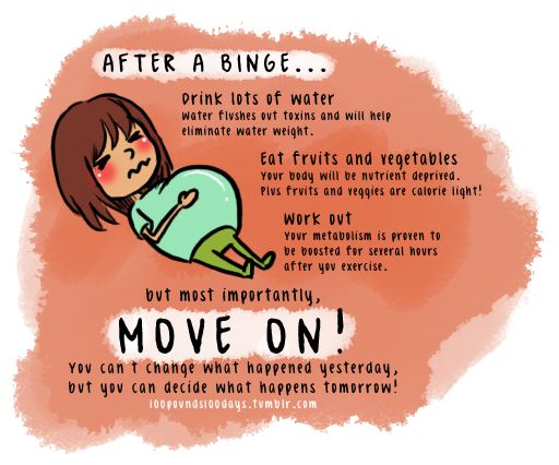 A binge doesn't destroy all of your hard work, but dwelling on it will.