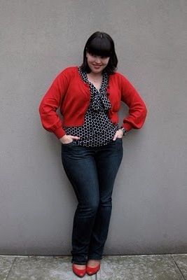 Plus size fashion. :) Love this look!
