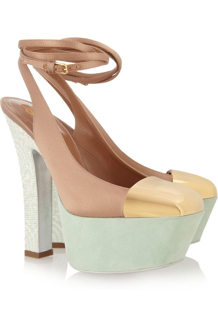 17 Best Pump It Up Images On Pinterest Designer Shoes And Clarette Wedges Coraline Beige Obsession Satin Suede Pumps By Yves Saint Laurent