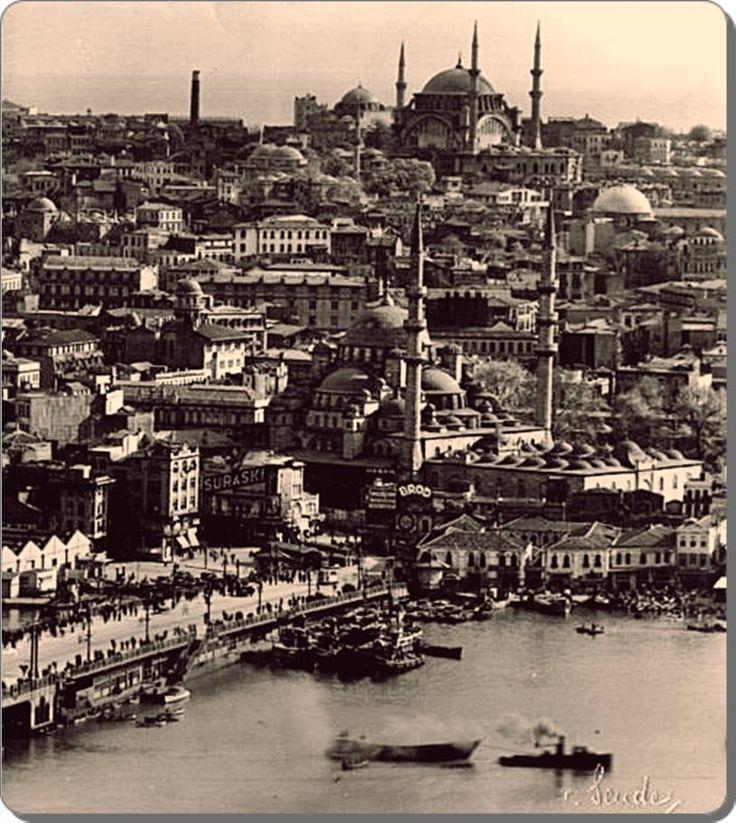 Galata Kulesi'nden Eminönü – 1930'lar