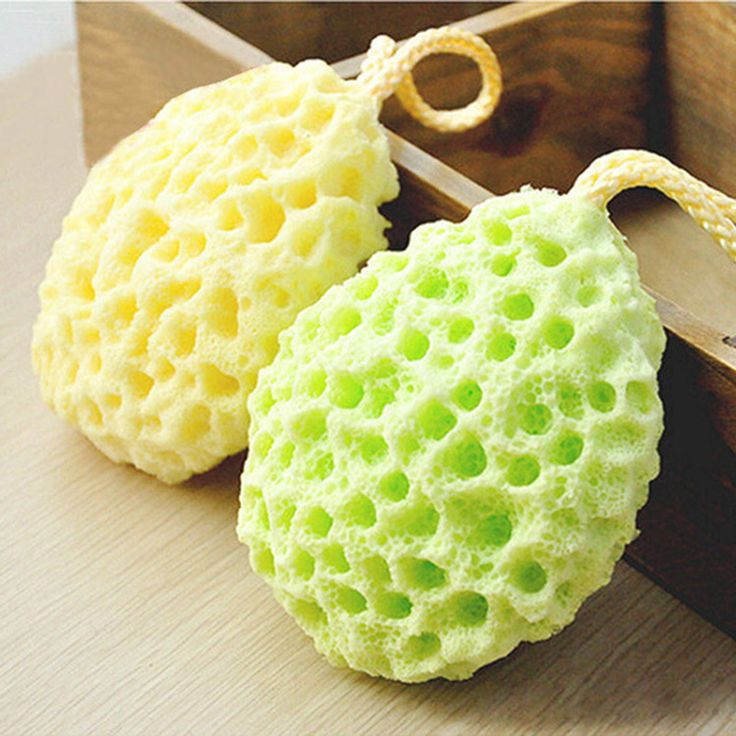 Bath Ball Mesh Brushes Sponges Bath Accessories Body Wisp Natural Sponge Dry Brush Exfoliation Cleaning Equipment A4