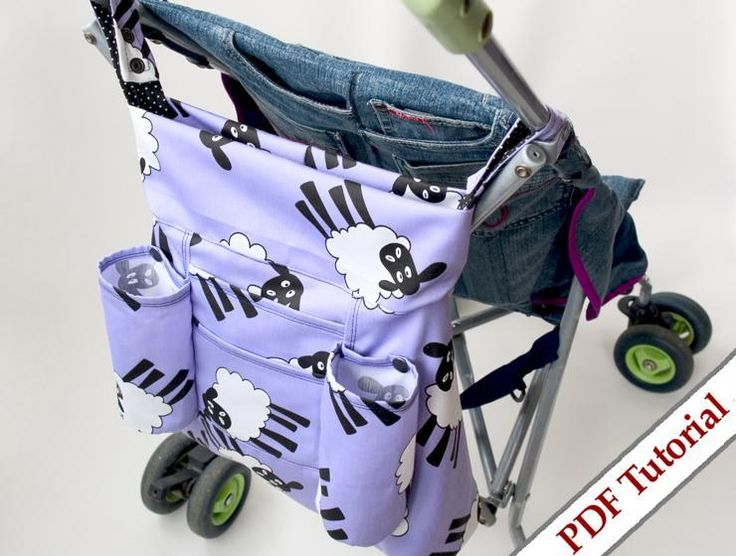 Reversible Stroller Tote Bag Pdf Sewing Pattern by Tutorial Girl