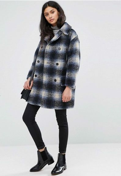 Ralph Lauren Denim Supply Tartan Double Breasted Coat Blue Multi XS NWT   eBay