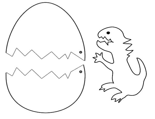 Dinosaurus Broken Egg Coloring Pages : Best Place to Color ...