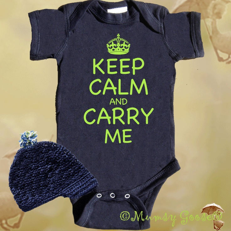 Funny Baby Boy Onesie Keep Calm Onesie Retro Boy Rompers Navy Onesies. $24.45, via Etsy.