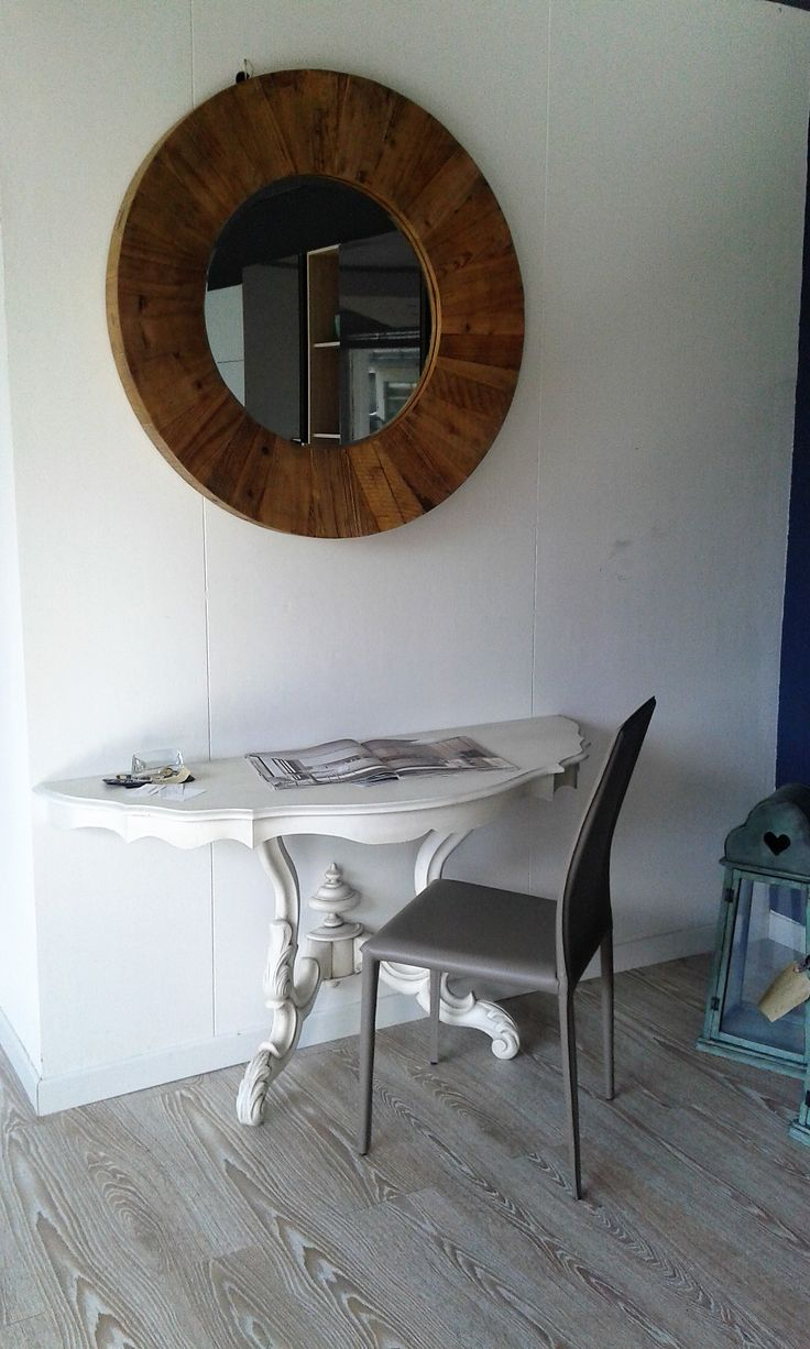 mirror wood consolle design