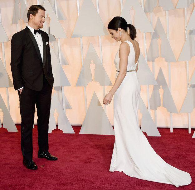 Channing Tatum and Jenna Dewan | 10 Looks Of Love On The Oscars Red Carpet