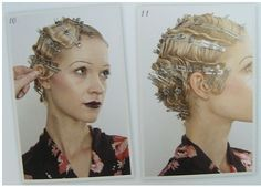 Carré cranté (finger waves) - NYE, Gatsby, Art Deco, Murder Mystery, Speakeasy, Prohibition, Jazz Lawn Party, Cotton Club, Moonshine, Burlesque, Gangster, Casino or Harlem Nights theme | 1920's