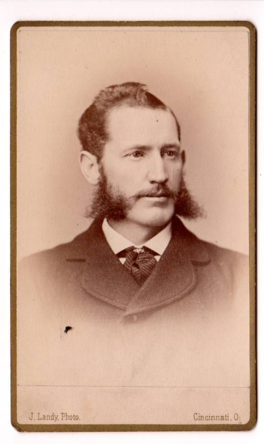 CDV Image of Dapper Dandy Young Man Great Mutton Chops Beard Landy Photo CIN Oh | eBay