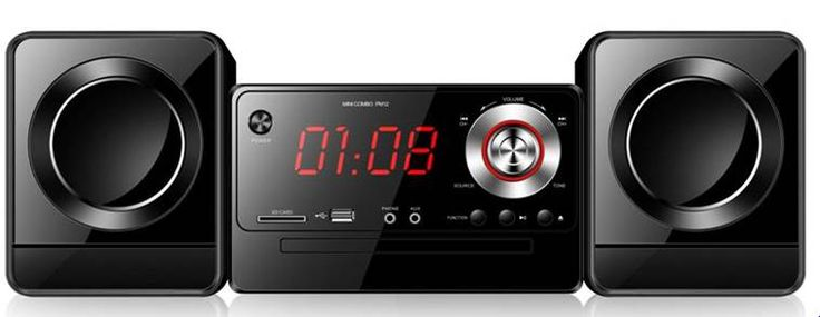 Micro HiFi System – Blk & Red