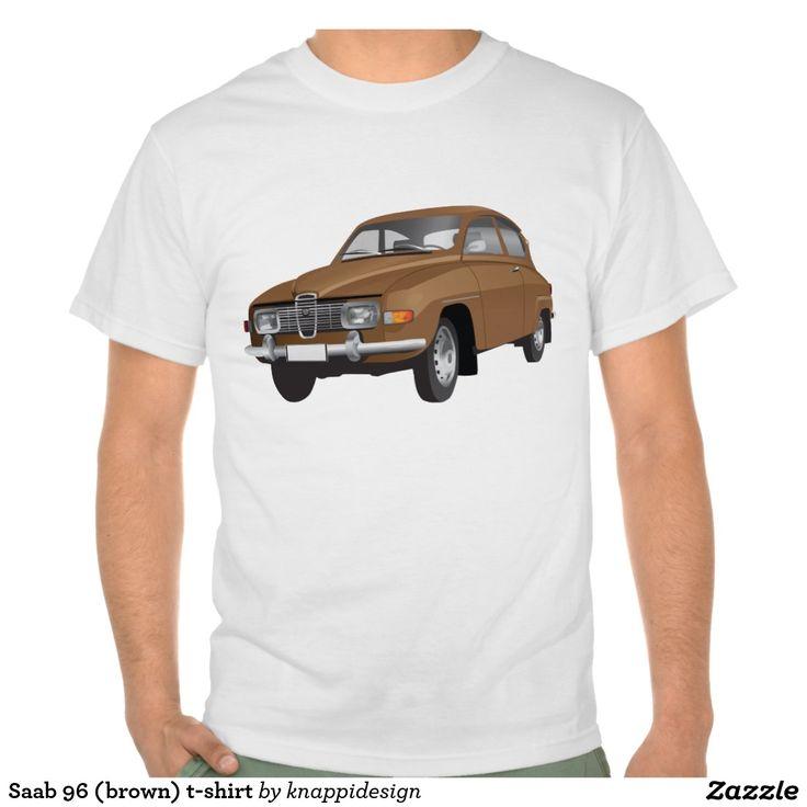 Saab 96 (brown) t-shirt  #saab #saab96 #automobiles #automobile #tshirt #tshirts #bilar #car #tröja #skjorta #tpaita #sweden #svenska #sverige #swedish