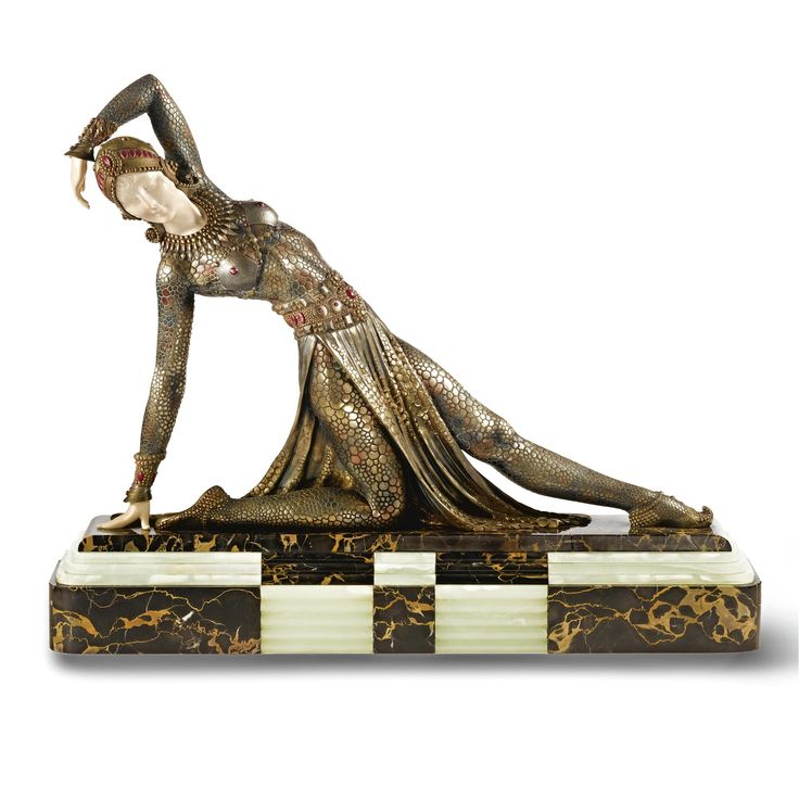 demetre chiparus art d co sculpture 39 danseuse hindoue 39 art d co demetre chiparus. Black Bedroom Furniture Sets. Home Design Ideas