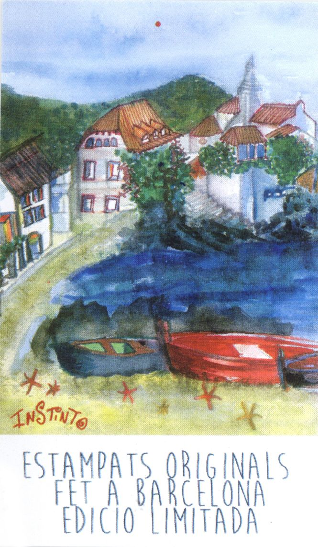 Estampado inspirado en el pueblo de Cadaqués.