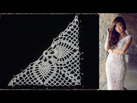 Половина мотива для платья от Эммы Остергрен - YouTube