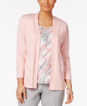 Alfred Dunner Rose Hill Layered-Look Top - Pink XL