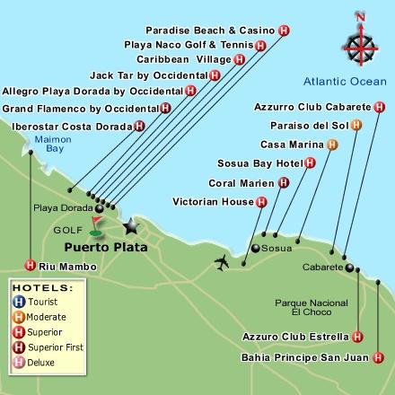 Sosua Cabarete Resort Map