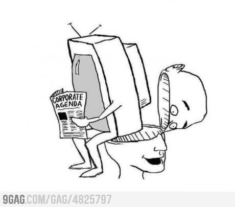 """""""Telewizja to fantastyczna rzecz. Płacą ci za to, że robisz z siebie debila przed milionami innych debili…"""""""
