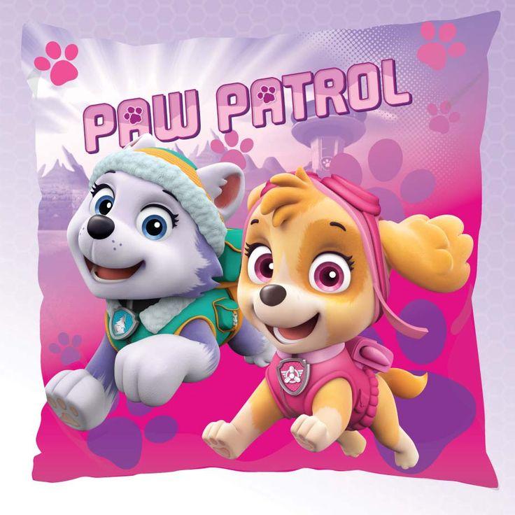 Paw Patrol różowa dekoracyjna poszewka