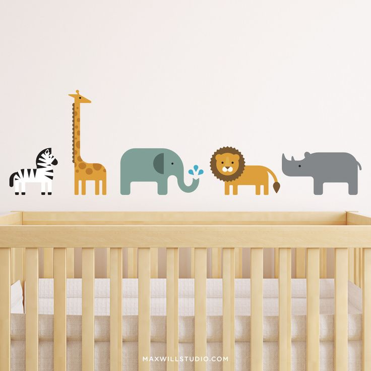 Overview Your kids will roar with delight when they see these modern Safari Animal wall decals from Maxwill Studio. It makes the perfect addition to any bedroom or nursery decor with a jungle or safar