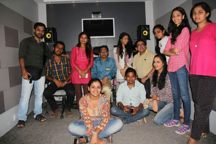 @Team Work Studio, Santacruze, With my Students of Mumbai University, Department of Communication and Journalism...