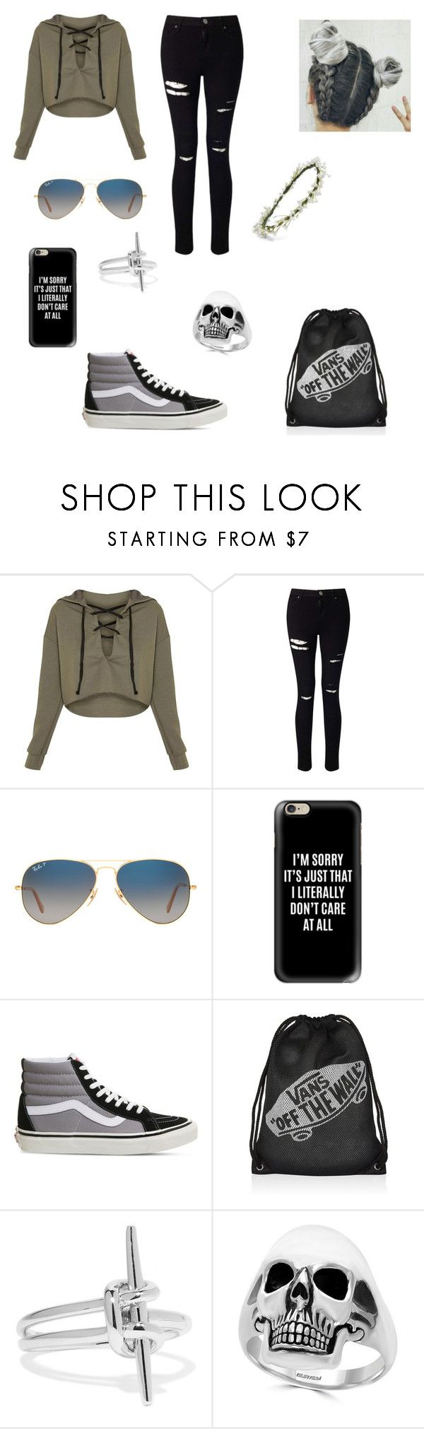 Yup by urielectric ❤ liked on Polyvore featuring Miss Selfridge, Ray Ban.
