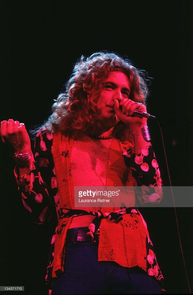Robert Plant of Led Zeppelin during Led Zeppelin in Concert at Chicago Stadium…