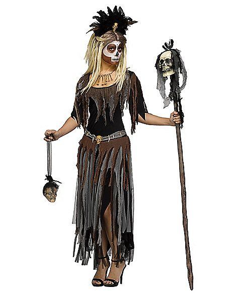 Adult Voodoo Queen Costume - Spirithalloween.com                              …