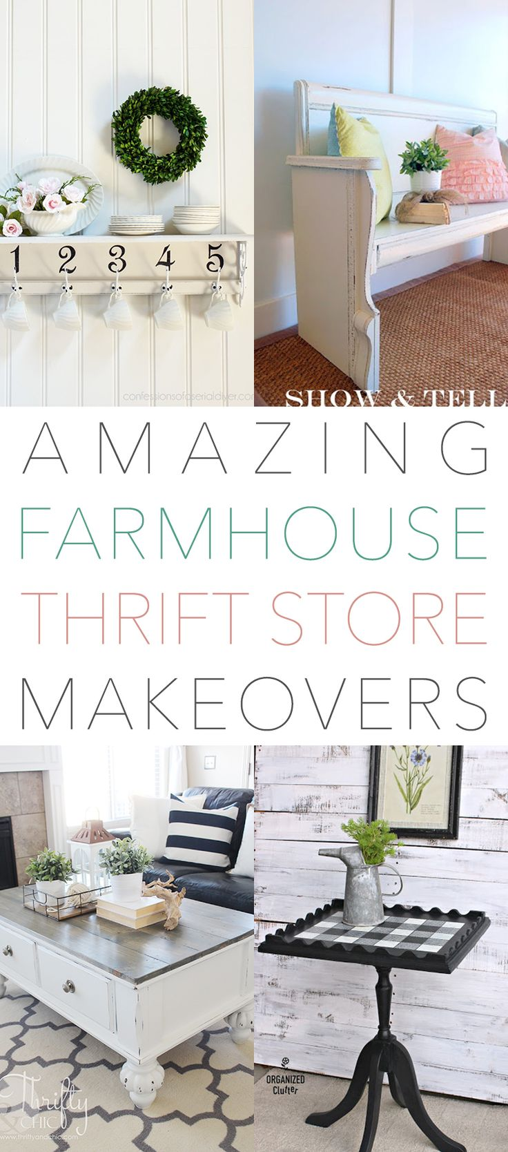 Hi there my friends! How is everything going. Thanksgiving is now behind us and the full Head On Attack on the Holiday Season is in Force! We know you have to have a little time to unwise so we have another collection of Awesome Farmhouse Thrift Store Makeovers for you. From Farmhouse Benches to an …