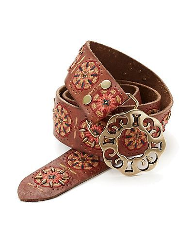 LALITA EMBROIDERED BELT - LuckyBrand