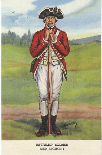 33rd Regiment of Foot FUSILERO - 1775-1783. Más en www.elgrancapitan.org/foro