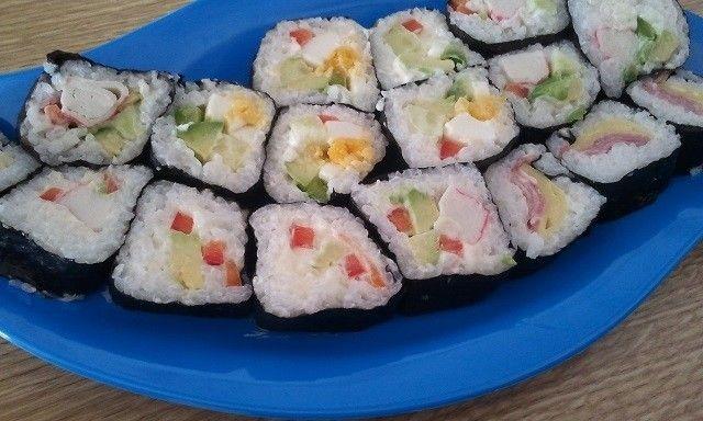 Sushi con arroz normal