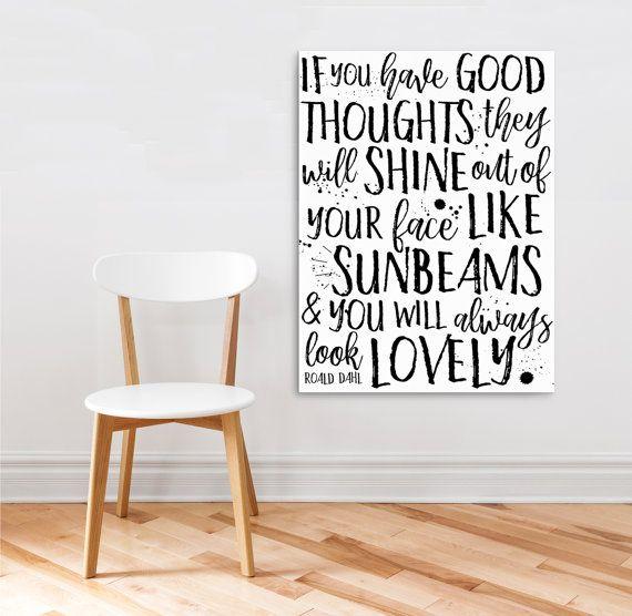 Wall Art Printable,  Kids Bedroom Decor, Roald Dahl Quote, Canvas Printable, Kids Inspirational Quotes, Home Decor Printable Original Design
