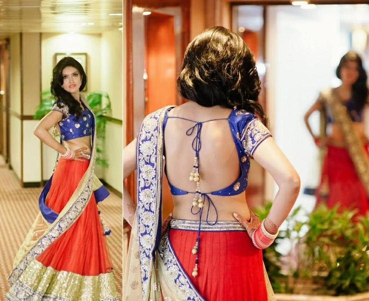 What a lovely blouse! Perfect outfit for a Sangeet or cocktail