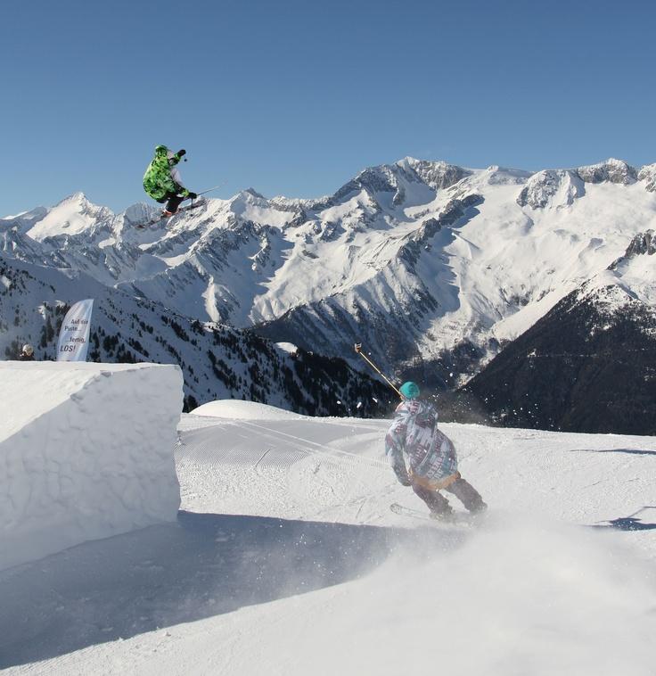 Skifreestyle im #Ahrntal - auch für Freestyler genau das richtige - Kicker und Rails jede Menge