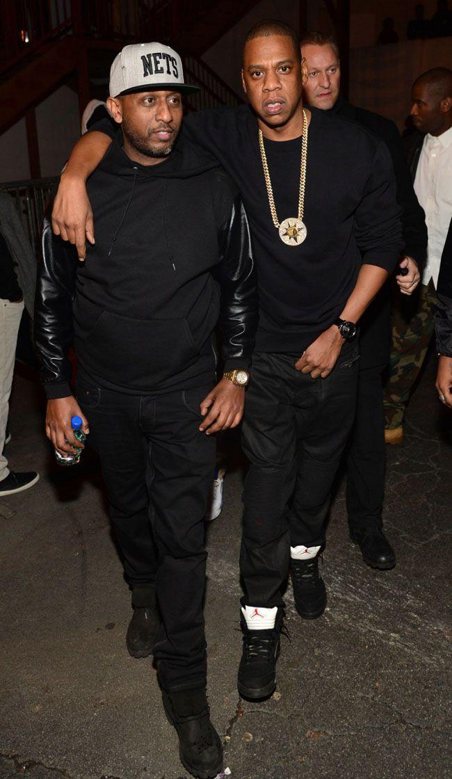 Jay Z Wears 'Metallic' Air Jordan 5 (1)