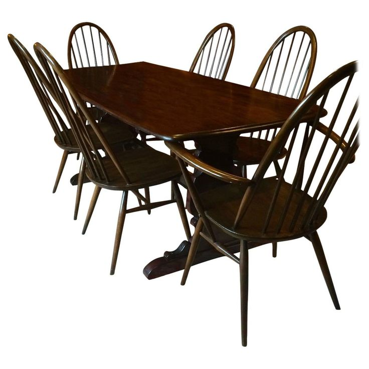 Vintage Ercol Dining Table with Six Chairs Solid Elm Quaker Design. The 25  best Ercol dining table ideas on Pinterest   Ercol table