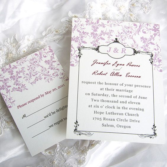 Adorable Pink Peach Flowers Wedding Invitations IWI018 : Wedding  Invitations Online, InvitesWeddings.com