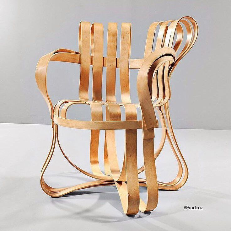 From Prodeez Product Design: Cross Check Chair by Frank Gehry. #furniture #chair #wood #creative #design #ideas #designer #frankgehry #interior #interiordesign #product #productdesign #instadesign #furnituredesign #prodeez #industrialdesign #architecture #style #art