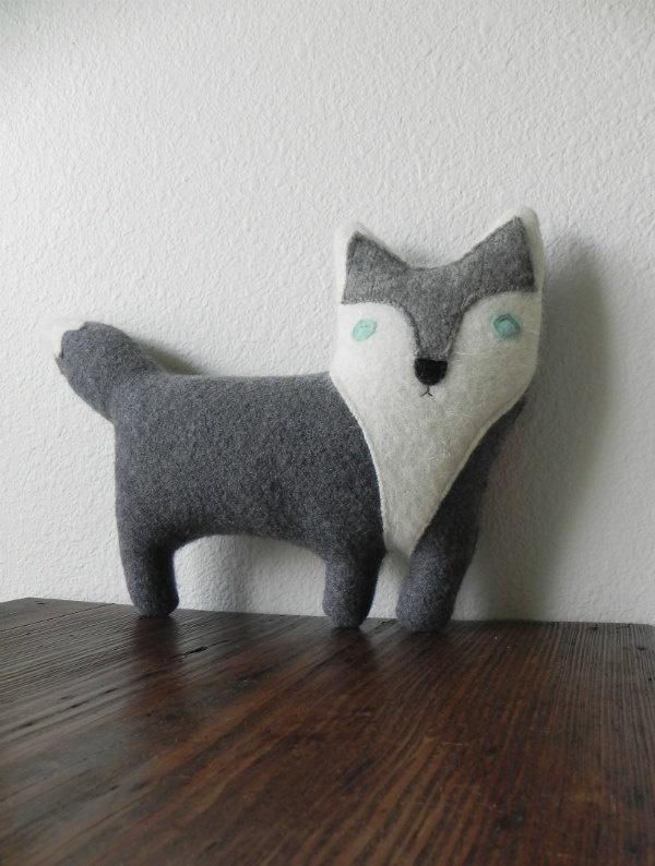 Etsy Transaction - the Wolf : Plush Wool Pillow