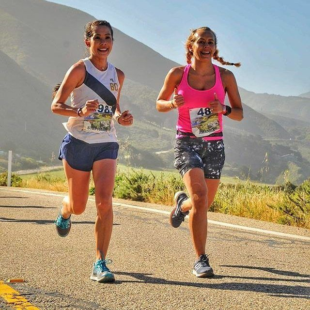#Repost @see_stephanie_run ・・・ Because 4 years ago @watch_abfly was the fast girl that I wanted to be just like and Sunday we spent 4 hours and 9 minutes along the rugged coast of California singing, dancing, running & eating strawberries to pass 26.2 miles.  I've learned so much from her coaching and her example since she really was my first coach...meeting me at 5am for mile repeats.  She keeps getting further and further away...Fresno > San Francisco > Austin but as long as there are…