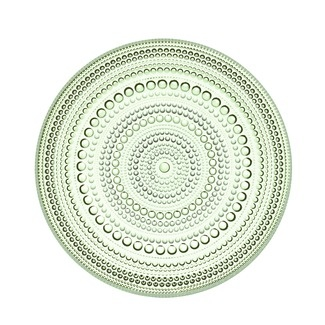 "IITTALA glass plate, $32 for 2 6.75"" platesGreen Salad, Apples Green, Iittala Dewdrops, Oiva Toikka, Kastehelmi Plates, Glasses Plates, Iittala Kastehelmi, Iittala Dinnerware, Salad Plates"